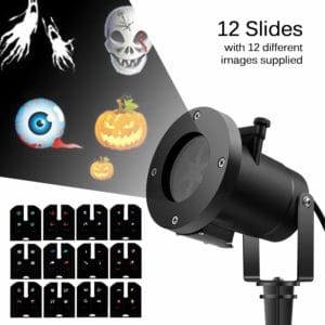 ingleby Holiday Led Projector Christmas Decoration Moving Lights 12 Pattern Replaceable Slides Indoor and Outdoor Garden Waterproof Lawn Lamp