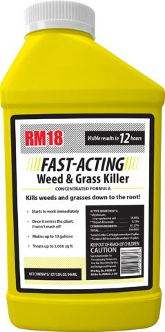 10. RM18 Fast-Acting Weed & Grass Killer Herbicide