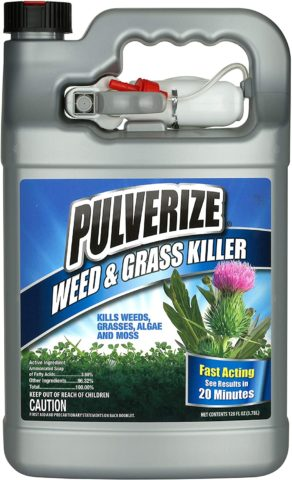 3. Pulverize PWG-UT-128 Weed & Grass Ready to Use Weed Killer, Clear