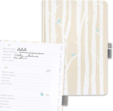 7. Password Book Logbook with Tabs by Budget Keeper